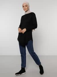 Natural Fabric Tunic - Black