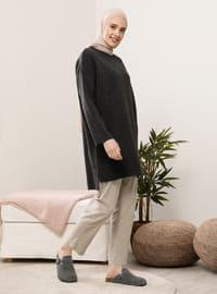 Anthracite - Crew neck - Knit Tunics