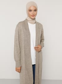 Mink - V neck Collar - Acrylic -  - Cardigan