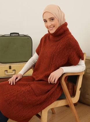 Copper - Polo neck - Unlined - Knit Tunics