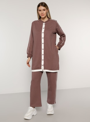 Purple -  - Plus Size Tracksuit