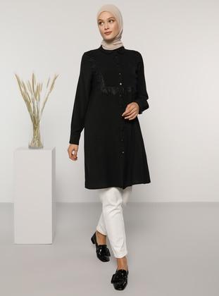 Black - Round Collar - Tunic