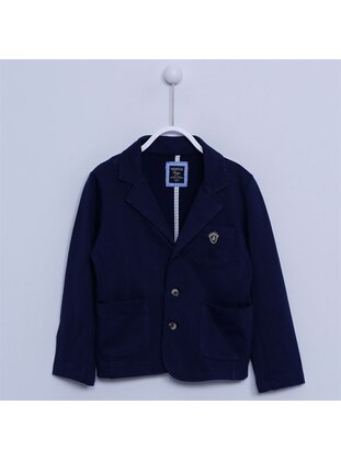 Navy Blue - Boys` Jacket - Silversun