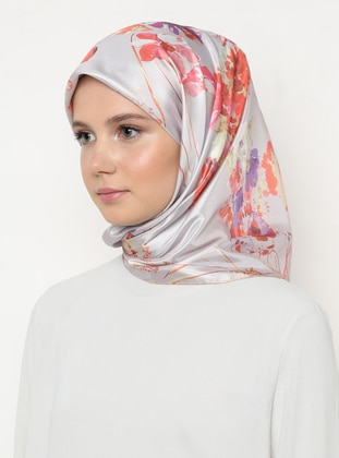 Multi - Light Pink - Floral - Scarf