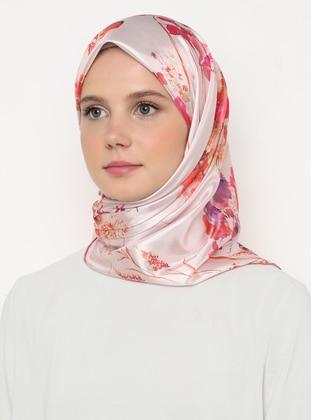 Multi - Light Pink - Floral - Scarf