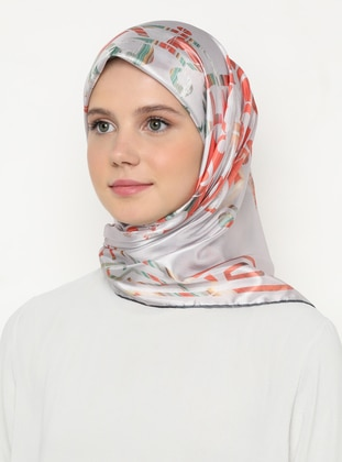 Multi - Light Pink - Printed - Scarf