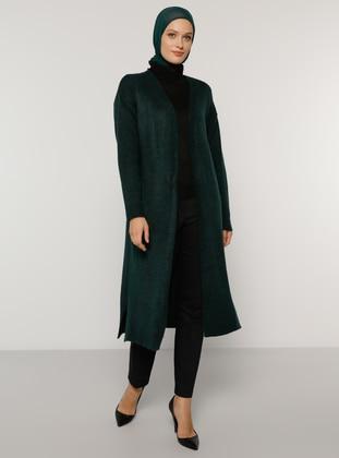 Olive Green - Green - Acrylic -  - Cardigan