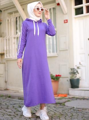 Purple - Unlined - - Dress