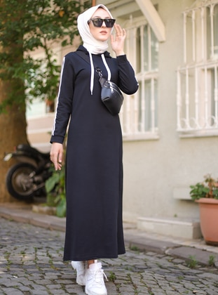 Black - Unlined -  - Dress - Tofisa