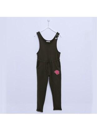 Khaki - Girls` Salopettes & Jumpsuits - Silversun