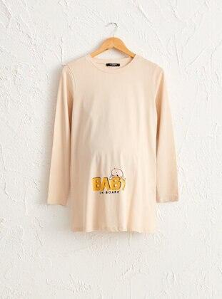 Beige - Maternity Clothing
