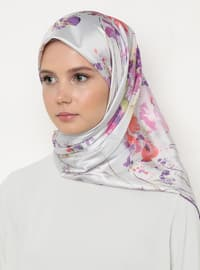 Multi - Lilac - Floral - Scarf