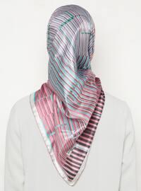 Multi - Pink - Geometric - Scarf