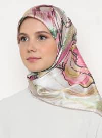 Multi - Pink - Printed - Scarf