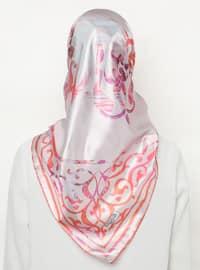 Multi - Pink - Salmon - Printed - Scarf