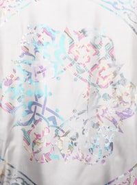 Multi - Lilac - Blue - Pink - Printed - Scarf