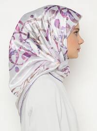 Multi - Lilac - Printed - Scarf
