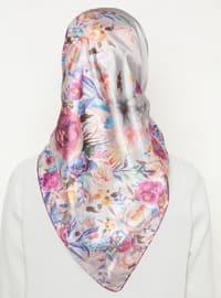 Multi - Floral - Printed - Scarf