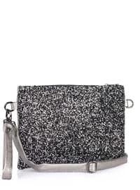 Silver - Black - Clutch - Clutch Bags / Handbags