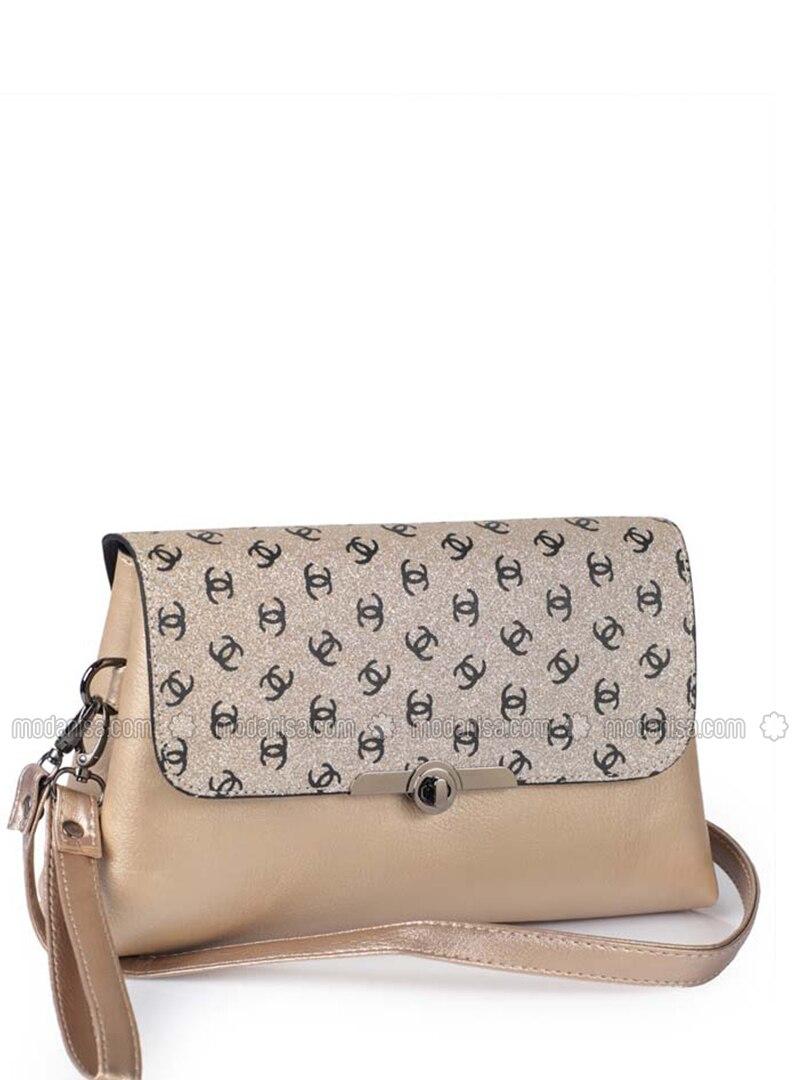 Gold - Crossbody - Satchel - Clutch Bags / Handbags