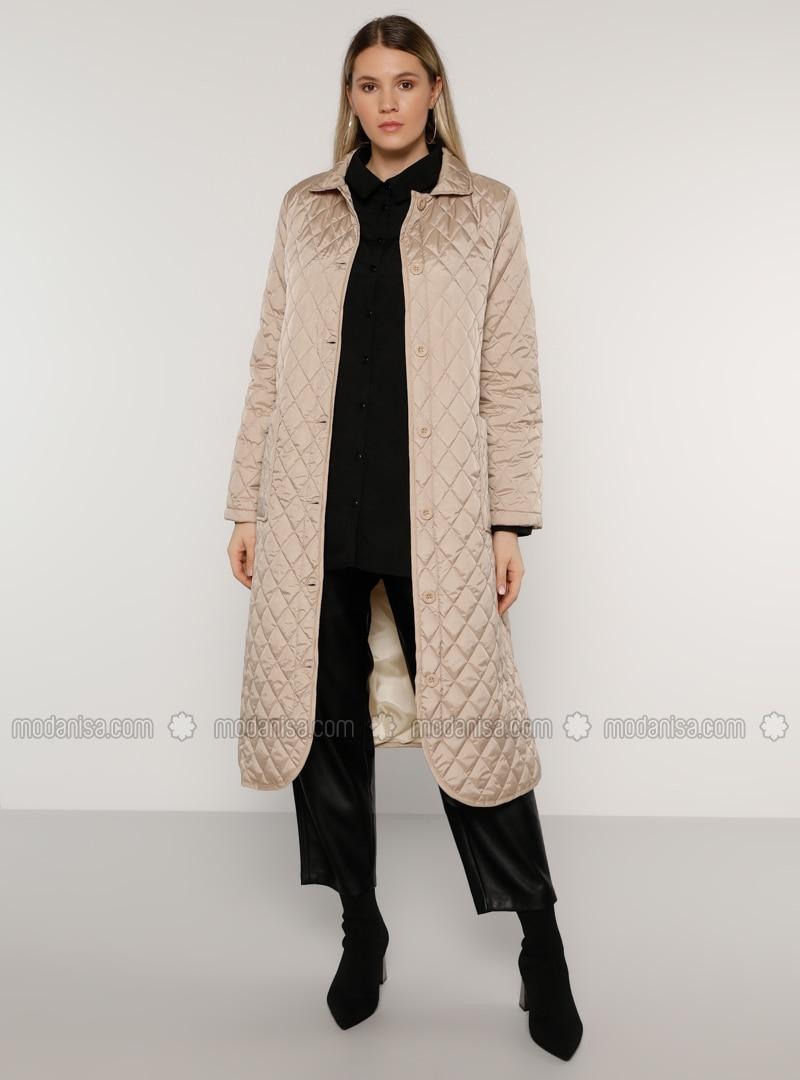 Camel - Stone - Unlined - Plus Size Overcoat
