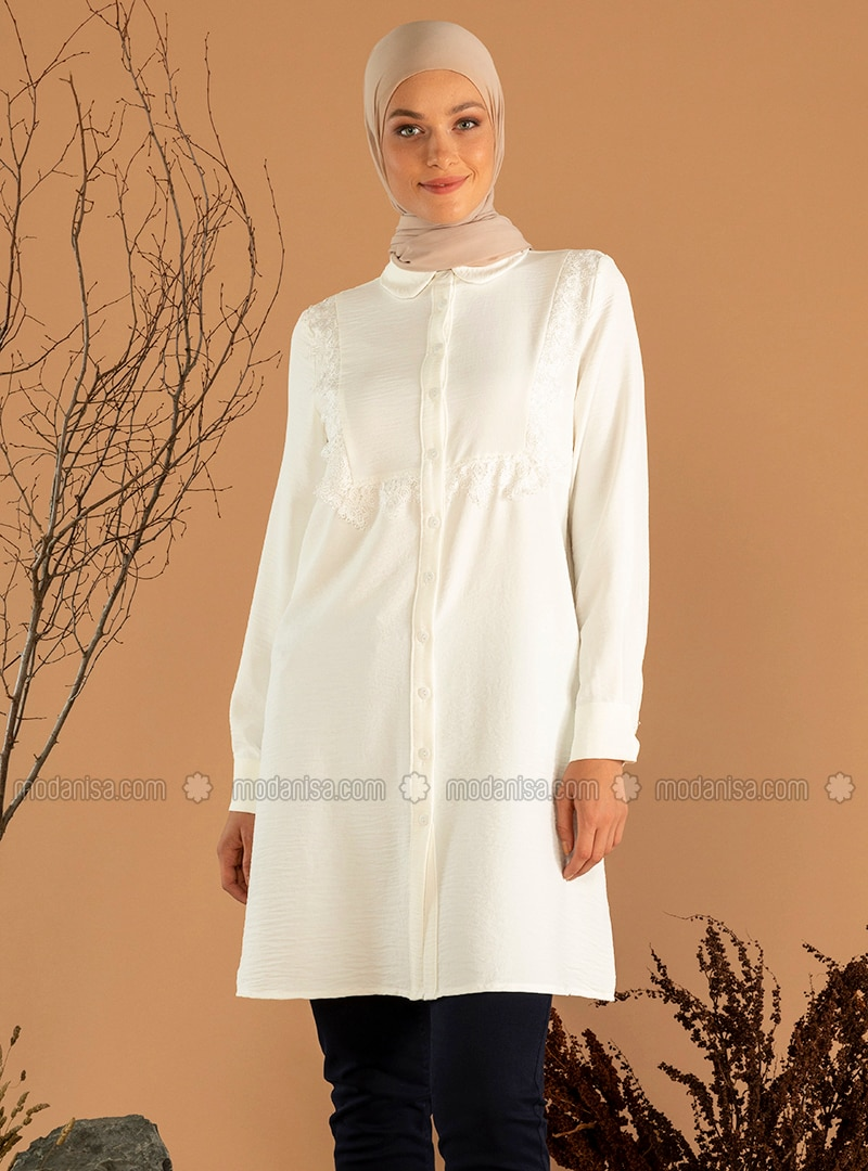 White - Round Collar - Tunic