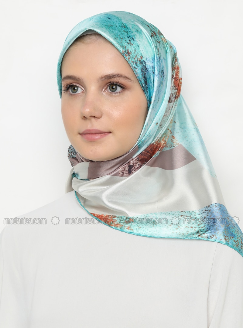 Multi - Mint - Printed - Scarf
