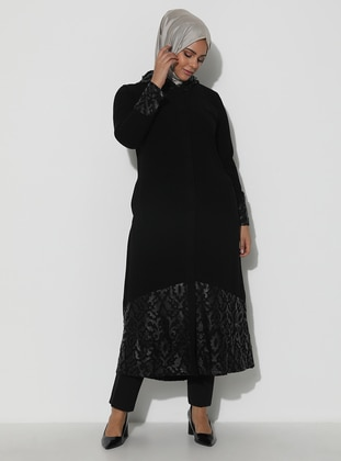 Black - Unlined - Plus Size Abaya