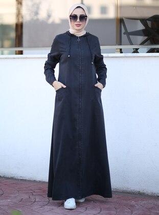Black - Unlined -  - Abaya