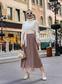 Mink - Fully Lined - Skirt