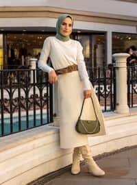 White - Ecru - Unlined - Polyurethane - Skirt