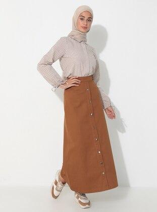 Tan - Unlined -  - Skirt