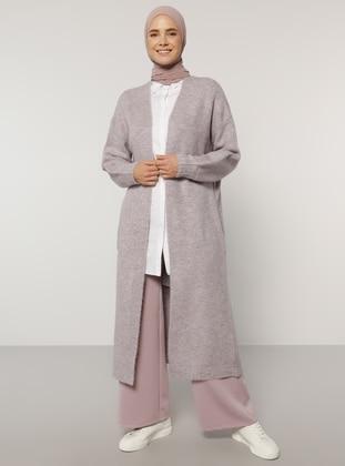 Lilac - Acrylic - Cotton -  - Cardigan - Benin
