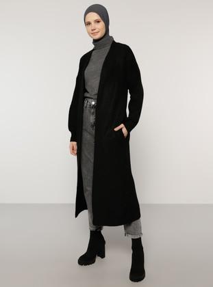 Black - Acrylic - Cotton -  - Cardigan - Benin