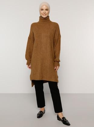 Bronze - Polo neck - Knit Tunics