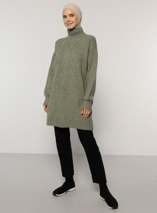 Green Almond - Polo neck - Knit Tunics