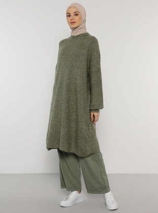 Green Almond - Crew neck - Knit Tunics - Benin
