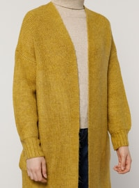 Yellow - Acrylic - Cotton -  - Cardigan
