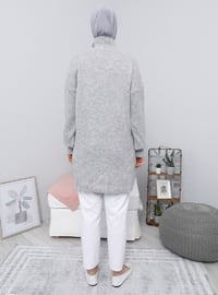 Silver tone - Polo neck - Knit Tunics