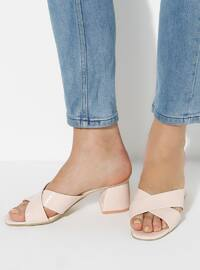 Beige - Sandal - High Heel - Slippers
