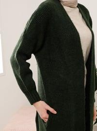 Green - Acrylic - Cotton -  - Cardigan
