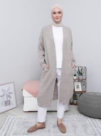 Mink - Acrylic - Cotton -  - Cardigan