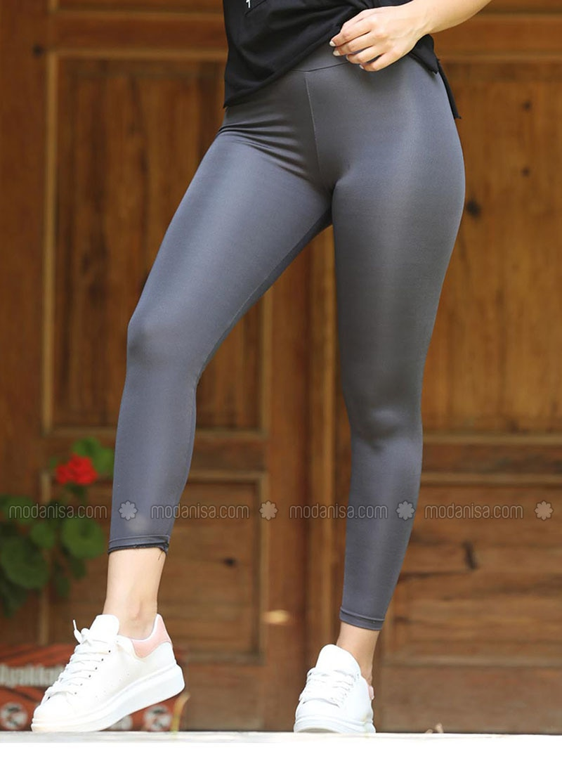 Gray - Scuba - Gym Leggings