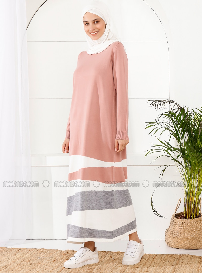 Powder - Unlined - Crew neck - Acrylic - - - Knit Dresses