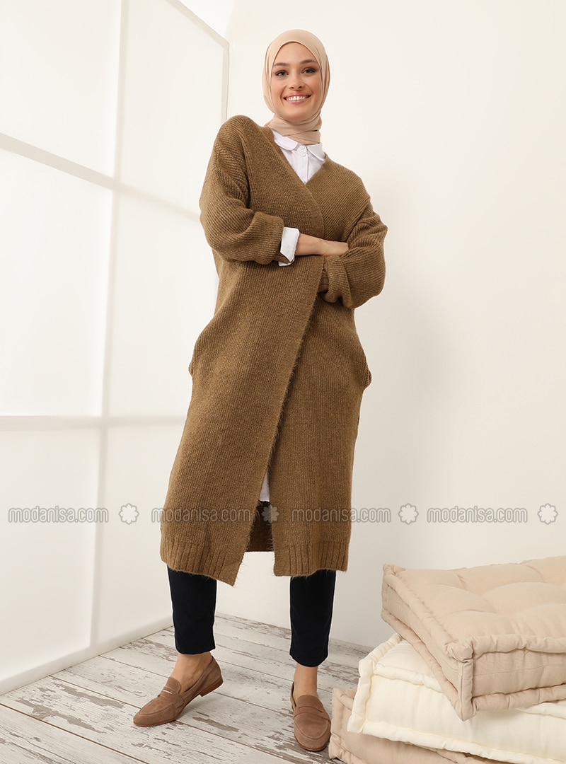Yellow - Acrylic - Cotton -  - Cardigan