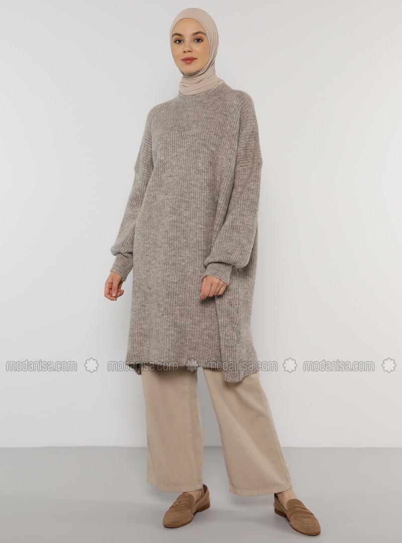Mink - Crew neck - Knit Tunics
