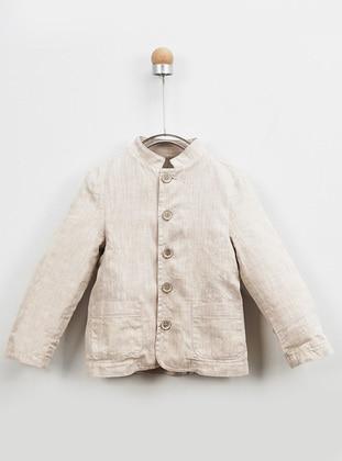 Crew neck - - Beige - Baby Jacket