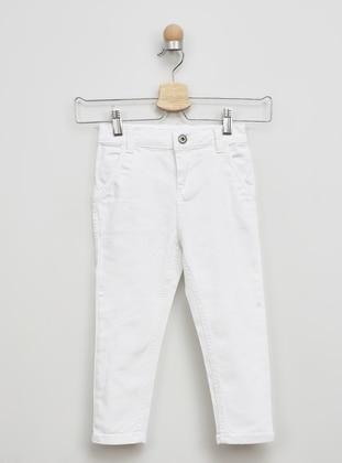 Linen - - White - Ecru - Boys` Pants