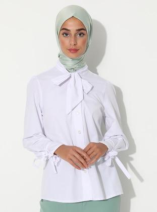 White -  - Viscose - Blouses