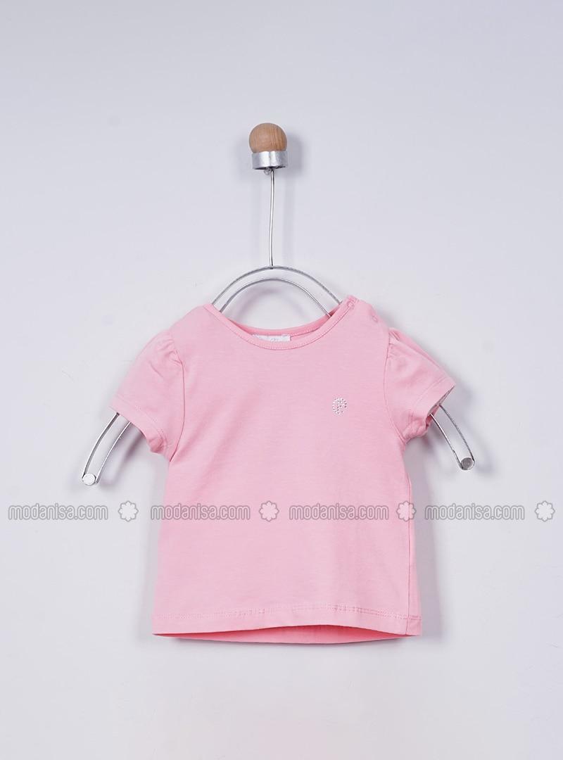Crew neck - - Pink - Baby Body